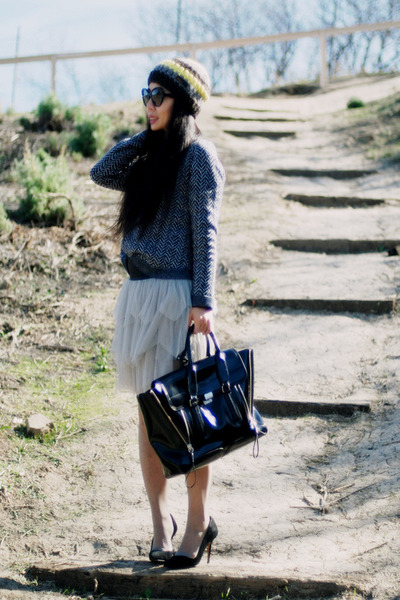 LaRok skirt - Theory sweater - 31 Phillip Lim bag - Zara heels
