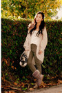 Ugg boots - H&M sweater - Miu Miu bag