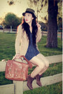 Vintage-boots-urban-outfitters-hat-h-m-blazer-warehouse-bag-zara-romper-