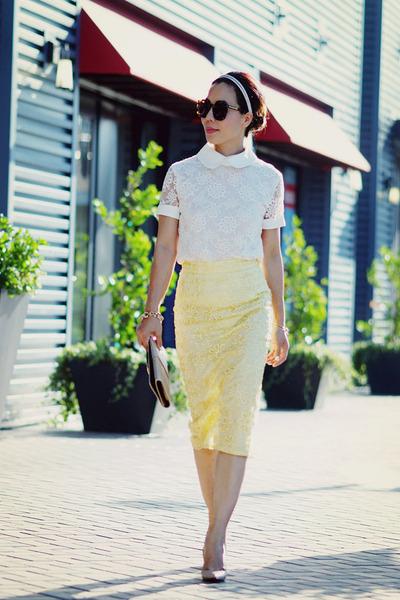asos skirt - Christian Louboutin heels
