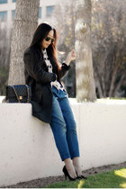 Ray Ban sunglasses - H&M coat - Charlotte Olympia pumps