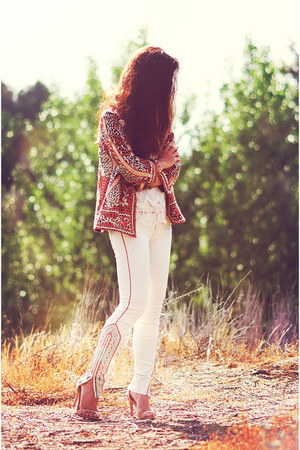 free people jacket - mother jeans