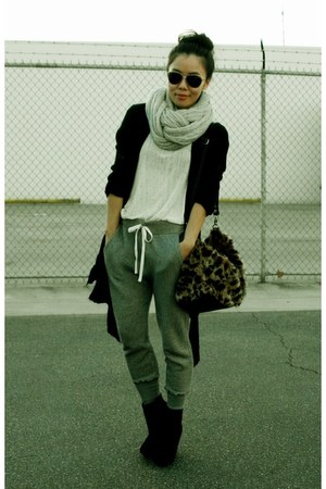 Converse pants - wedges Bamboo boots - Zara top