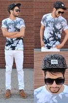 charcoal gray thfkdlf 5 panel hat - charcoal gray t-shirt