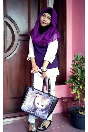 purple bag - purple top