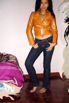 gloves - Topshop jeans - Topshop Vintage dress