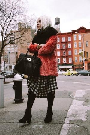 hot pink Topshop jacket - black Mulberry bag