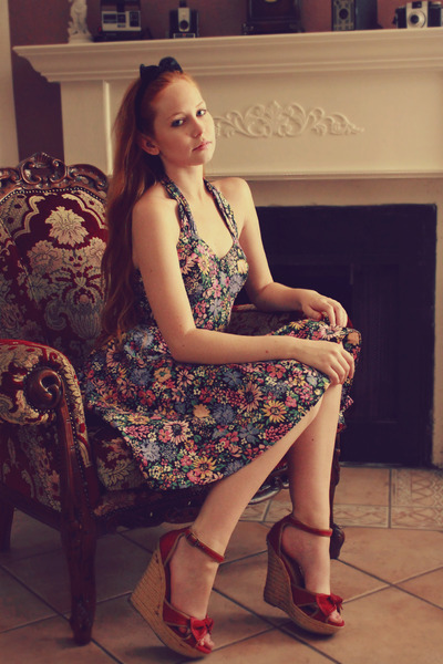 floral print Meat Market Vintage dress
