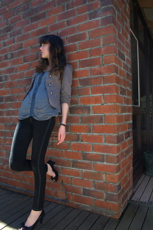 vintage jacket - vintage top - Valley Girl jeans - Esprit accessories