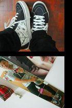 silver Armani Exchange shirt - black Topman jeans - black Vans shoes - beige see