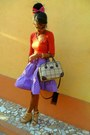 Time-bag-guess-sunglasses-purple-polka-dots-skirt-guess-watch