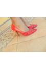 Denim-shirt-red-heels