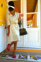 ivory Missoni dress - dark green Louis Vuitton bag