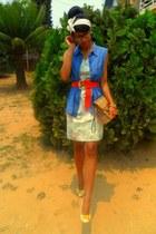 Burberry purse - KIT floral dress - Jane Smith heels - AKA belt