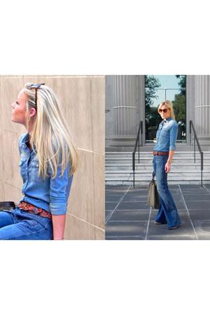 citizens jeans - Zara blouse - Gap belt