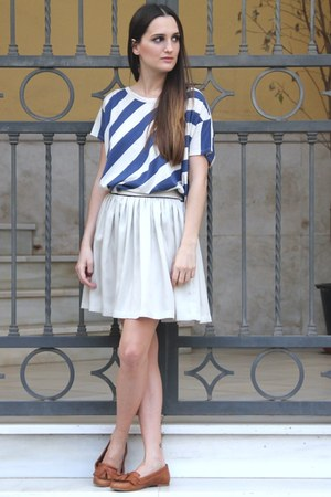 blue DrDenim shirt - off white Bonsui skirt