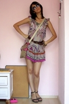 Bershka dress - Fossil belt - Zara shoes - coach accessories - accessories