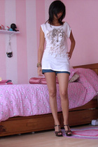 pull&bear shirt - Sisley shorts - Tropical shoes