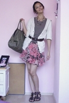 Zara sweater - Bershka shirt - XOXO skirt - Fossil belt - ZIA shoes - Sfera acce