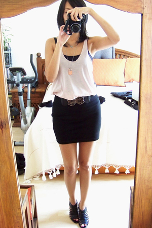 Zara top - Zara top - pull&bear skirt - LOB shoes - TM belt