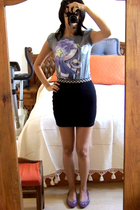 Zara shirt - pull&bear skirt - Zara belt - Lacoste shoes