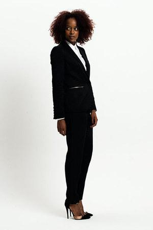 zipped blazer