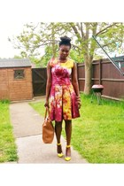 scater DIY dress - Avon bag - heels