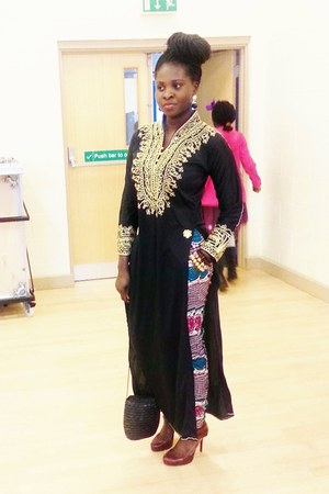 kaftan thrifted dress - ankara Awos House of Fashion pants