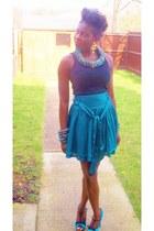 Primark vest - Primark skirt - haute&comely accessories - Primark heels