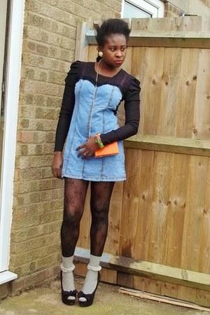 jeans DressLink dress - DressLink purse - DressLink socks