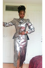 Silver-midi-entente-dress