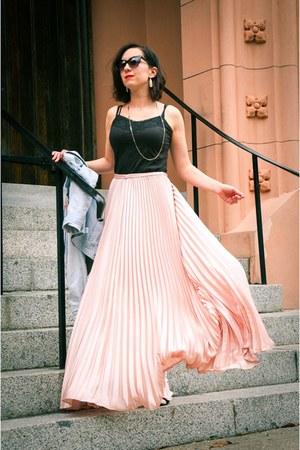 pleated skirt shein skirt