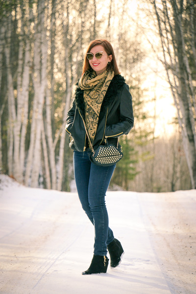 leather wilsons leather jacket - studded DealSale purse