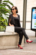 black Chicme cape - quilted kate spade bag - red Mossimo pumps