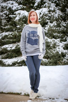 kitty modcloth sweatshirt - Machi Footwear shoes
