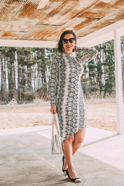 snakeskin Femme Luxe dress