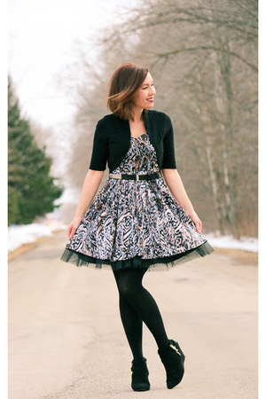 tulle Rue 21 dress - Target boots
