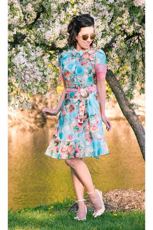 floral Yuna Yang dress - Machi Footwear heels