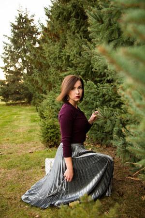 metallic shein skirt - cropped Review Australia cardigan