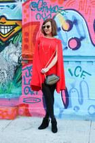 dress Sheinside cape - ankle Target boots - lips DealSale purse