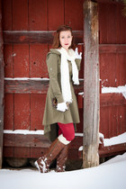 custom C&A Leather wallet - hooded Etsy dress - Etsy stockings