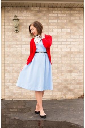 vintage dress - red modcloth cardigan