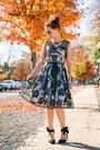 Floral-lilee-fashion-dress-quay-sunglasses-bow-pink-basis-heels