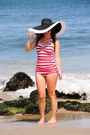 Striped-esther-williams-swimwear