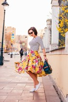floral print modcloth skirt