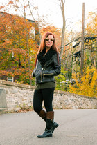 leather jacket wilsons leather jacket - black and brown Target boots