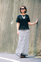 crop shein top - maxi Old Navy skirt