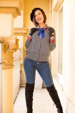 beret modcloth hat - shein blouse