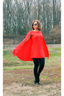Ankle-target-boots-lips-dealsale-purse-dress-sheinside-cape