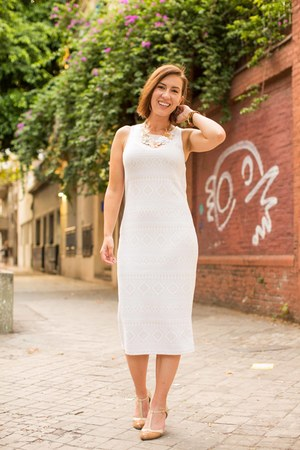 sheath thrifted dress - retro modcloth heels